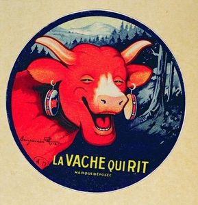 Benjamin Rabier - Label Design For 'la Vache Qui Rit' Cheese