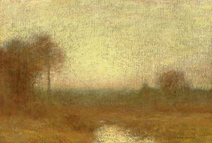 Robert Bruce Crane - Autumn Sunset