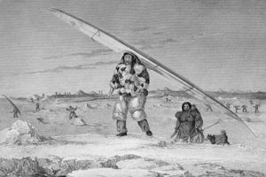 George Francis Lyon - An Eskimaux Of Igloolik, Wearing A Bird-skin Jacket,