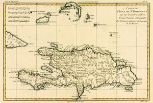 Rigobert Bonne (Charles Marie Rigobert Bonne) - The French And Spanish Colony Of The Island Of St Dominic Of The Greater Antilles, From 'atlas De To