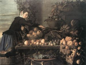 Claes Van Heussen - Fruit And Vegetable Seller