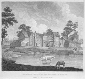 Edward Dayes - View Of The Pest-houses At Tothill Fields Engraved