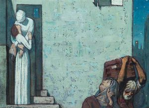 Frederick Cayley Robinson - Sketch For 'the Farewell'