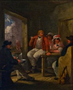 George Morland - Jack Ashore', An Inn Scene With Sailors