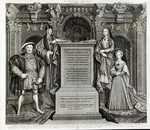 George Vertue - Familia Regia, Or The Family Of Henry Viii