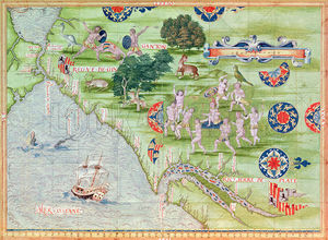 Guillaume Le Testu - Map Of Florida And The Caribbean