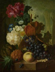 Jan Van Os - A Vase Of Flowers