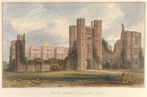 John Buckler - West View Of The Ruins Of Cowdray House, Sussex