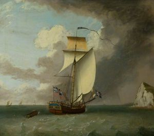 Thomas Luny - Hms 'london', A Cutter, Off Dover