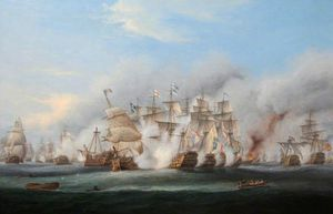 Thomas Luny - The Battle Of Trafalgar -