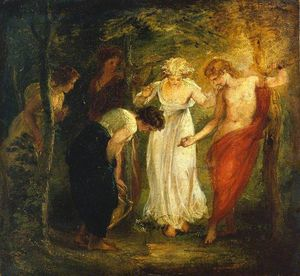 Thomas Stothard - Nymphs Discover The Narcissus