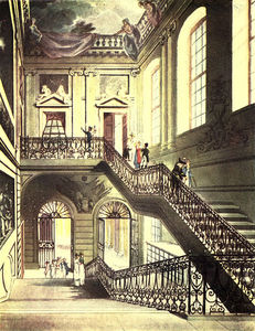 William Henry Pyne - The Hall And Staircase, British Museum