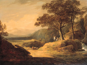 William Payne - A Cowherd And Cattle On A Track In A Mountainous Landscape