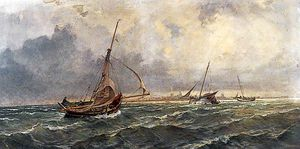 Charles Robert Leslie - A Squall, Southampton Water
