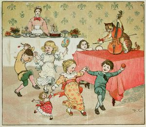 Randolph Caldecott - The Cat And The Fiddle And The Children's Party