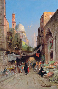 Richard Karlovich Zommer - At The Bazaar