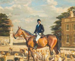 Alfred James Munnings - Major E. Shackle, Buckinghamshire Farmers' Hunt