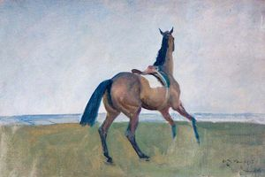 Alfred James Munnings - Study Of A Loose Horse