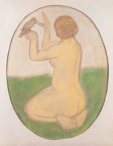 Paula Modersohn Becker - Kneeling Woman With Bird
