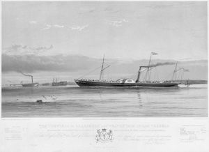 Samuel Walters - The 'countess Of Ellesmere' And 'weaver' Iron Steam Vessels