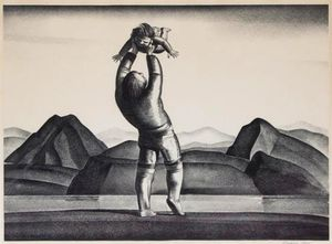 Rockwell Kent - Eskimo Mother And Child