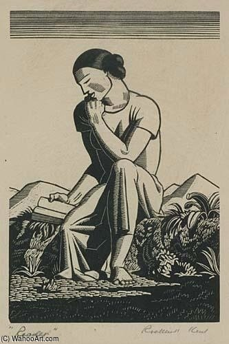 Order Art Reproductions Pop Art : The Reader by Rockwell Kent | BuyPopArt.com