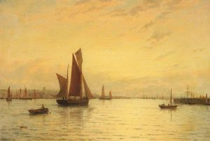 George Stanfield Walters - Fishing Boats Off Gorleston