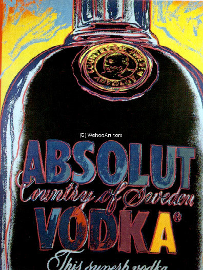 famous painting absolut vodka of Andy Warhol