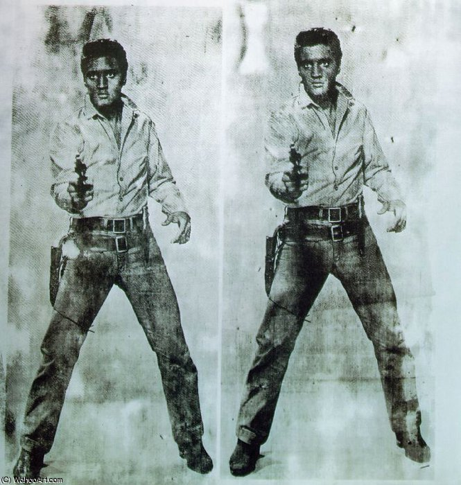 famous painting double elvis of Andy Warhol
