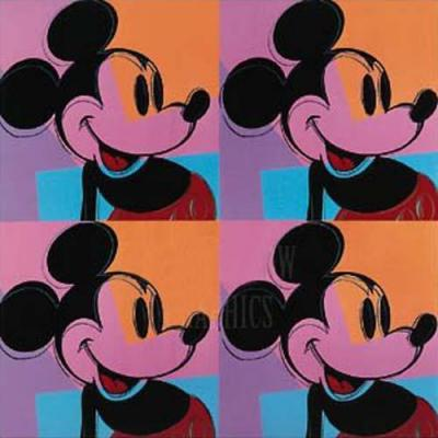 famous painting Mickey-Mouse of Andy Warhol