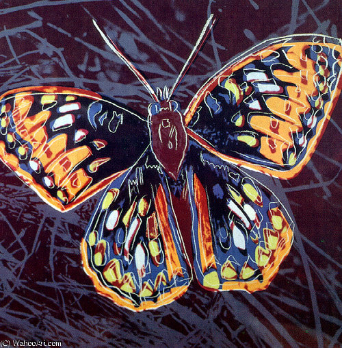 famous painting motyl of Andy Warhol