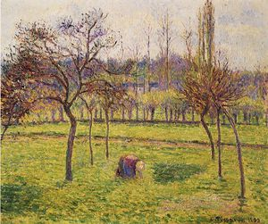 Camille Pissarro - Apple Trees in a Field.