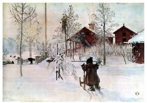 Carl Larsson - The Front Yard and the Wash House