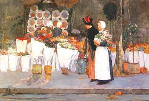 Frederick Childe Hassam - at the florist