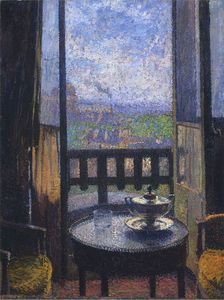 Henri Jean Guillaume Martin - View from the Artists Studio