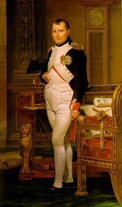 Jacques Louis David - Napoleon in His Study