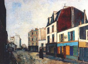 Maurice Utrillo - paintshop at saint ouen