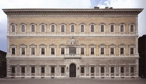 Michelangelo Buonarroti - late - Façade of the Farnese Palace