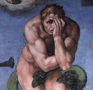 Michelangelo Buonarroti - right - Last Judgment (detail)8