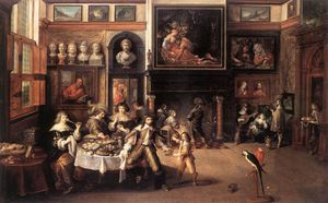 Frans Francken The Younger - Supper At The House Of Burgomaster Rockox