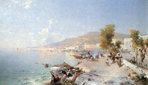Franz Richard Unterberger - Vietri sul mare looking towards salerno