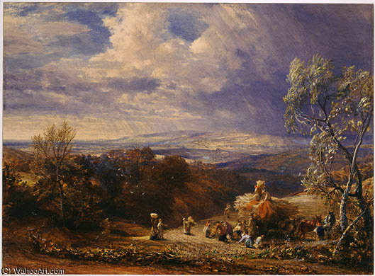 famous painting Harvesting of Samuel Palmer