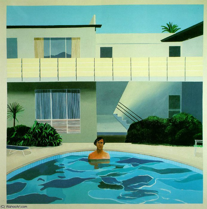famous painting Nick wilder of David Hockney