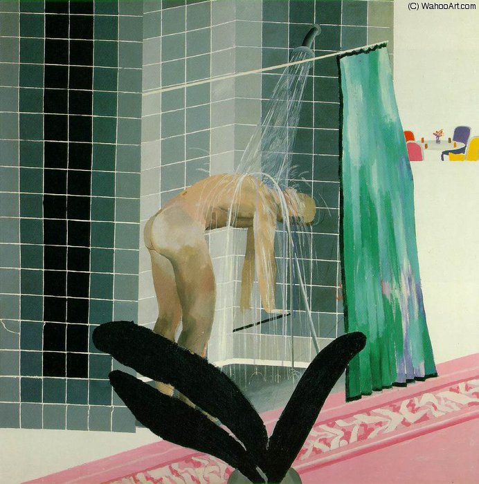 famous painting Shower beverly hills of David Hockney