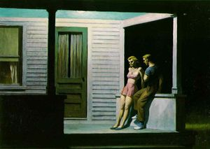 Edward Hopper - Summer evening, Collection of Mr. & Mrs. Gilber