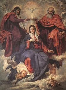 Diego Velazquez - The Coronation of the Virgin, oil on canv