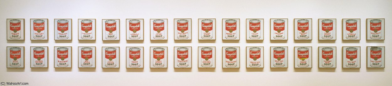 famous painting Campbell's soup cans of Andy Warhol