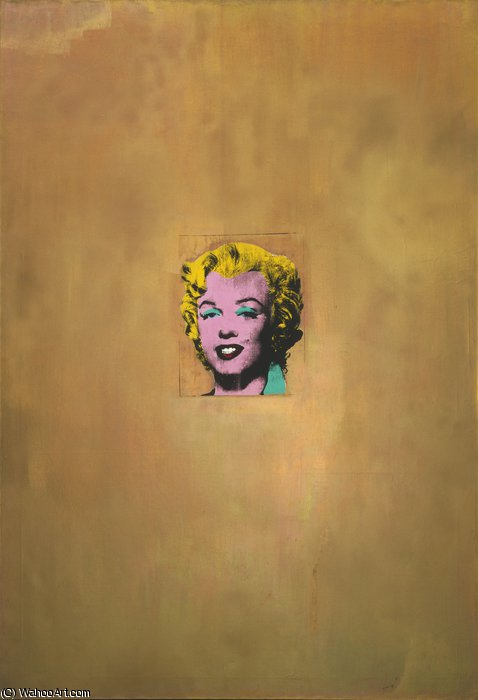 famous painting Gold marilyn monroe of Andy Warhol