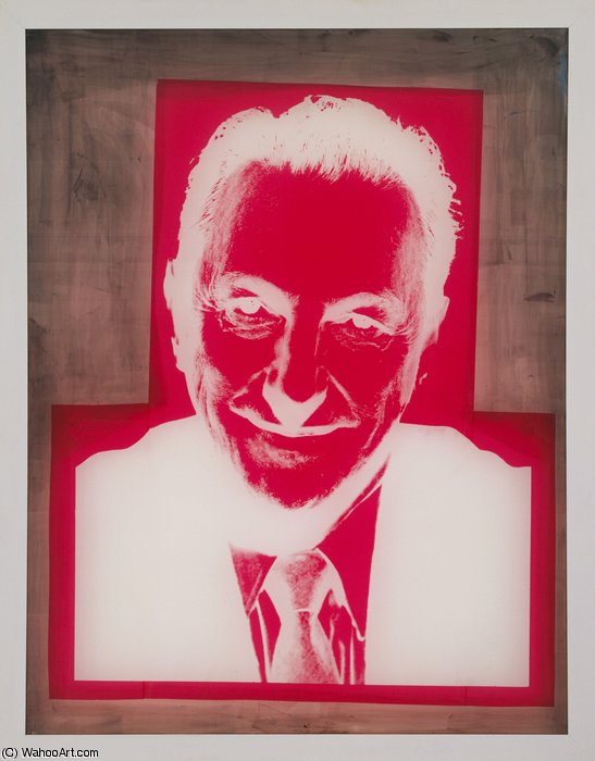 famous painting Silkscreen for Portrait of Sidney Janis of Andy Warhol