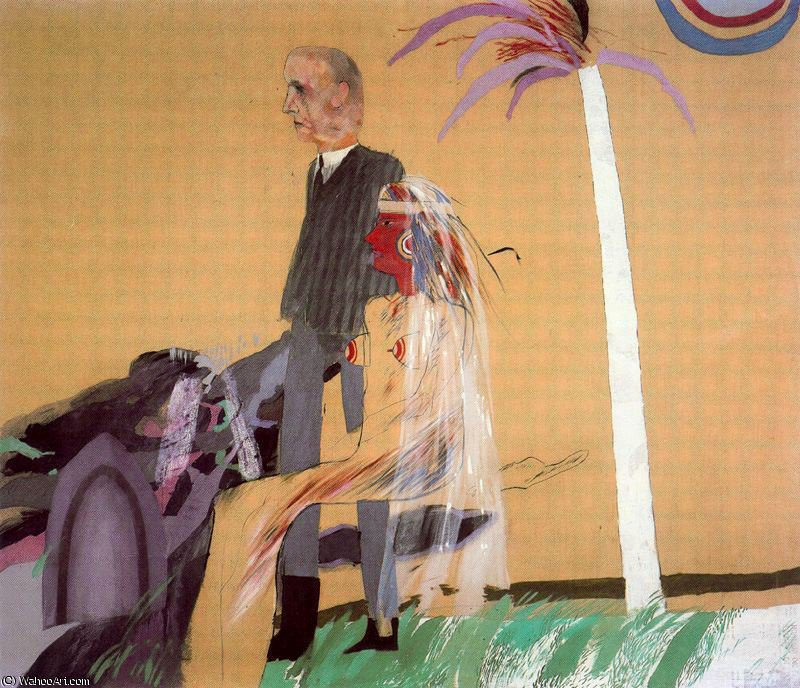 famous painting Untitled (153) of David Hockney